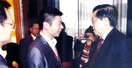 On October 28, 2011, long yongtu vice minister of the national foreign trade and economic cooperation department in Beijing to meet with the CEO