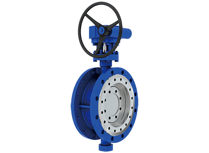 Triple eccentric two-way sealing butterfly valve with flange