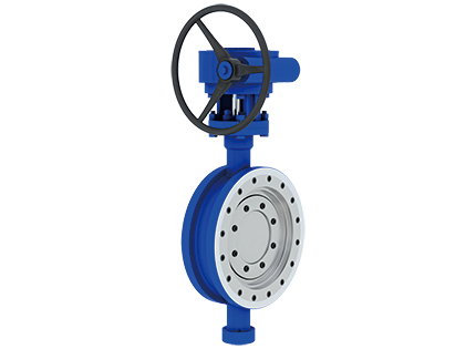 The wafer triple eccentric two-way sealing butterfly valve