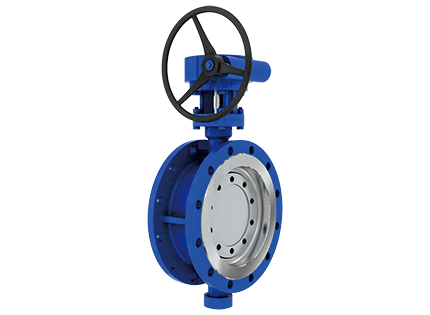 The three partial hardness sealing butterfly valve with flange