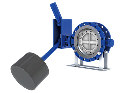The hydraulic slowly-closing check butterfly valve