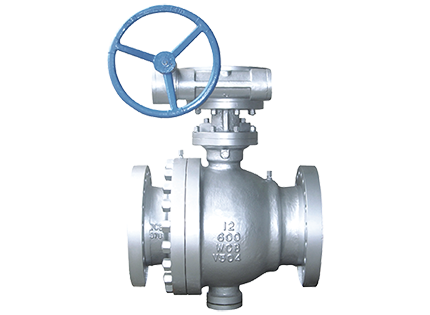 Fixed ball valve flange connection