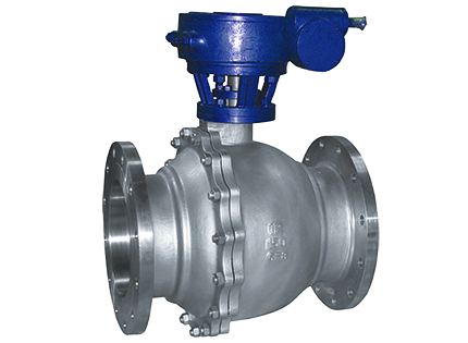 The floating ball valve flange connection