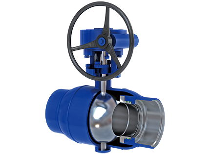 All welded fixed ball valve