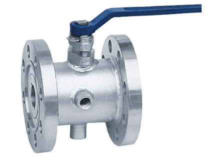 Flange connection insulation ball valve
